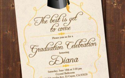 Graduation Invitation Card to Celebrate Your Success