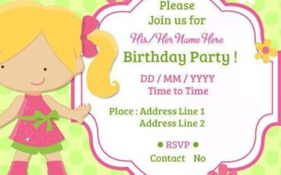 Birthday Invitation Card Recommendation for Beautiful Party