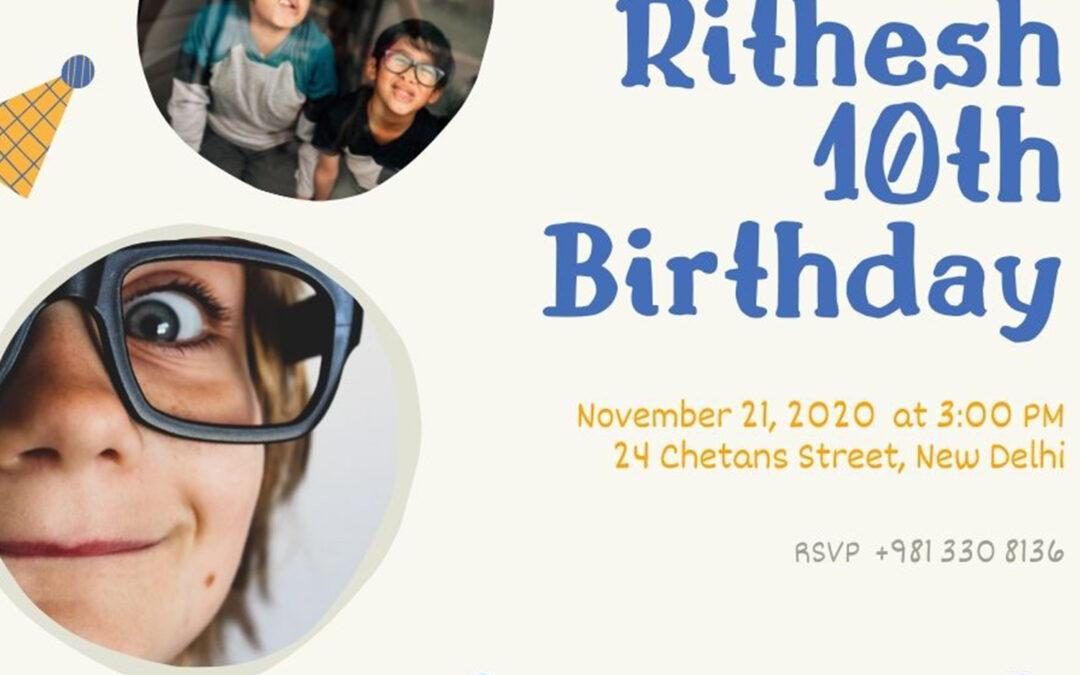 Cheer Up The Birthday with Birthday Invitation Card