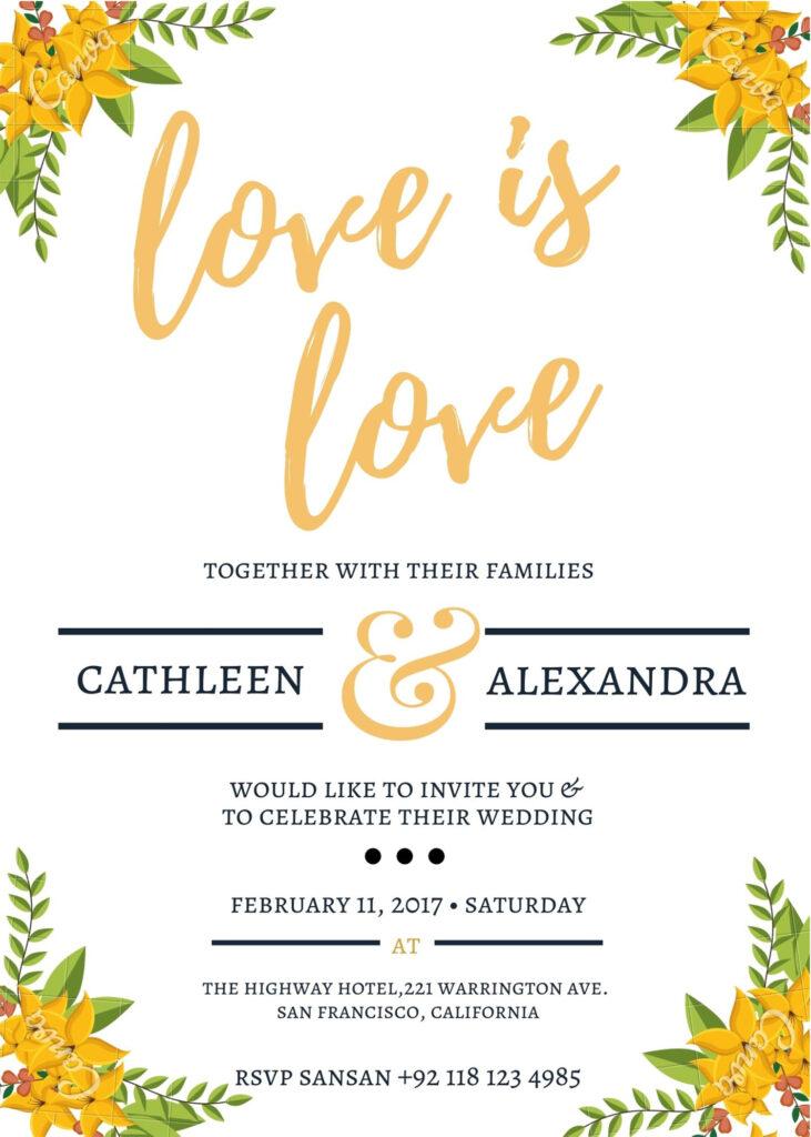 details card for wedding invitation