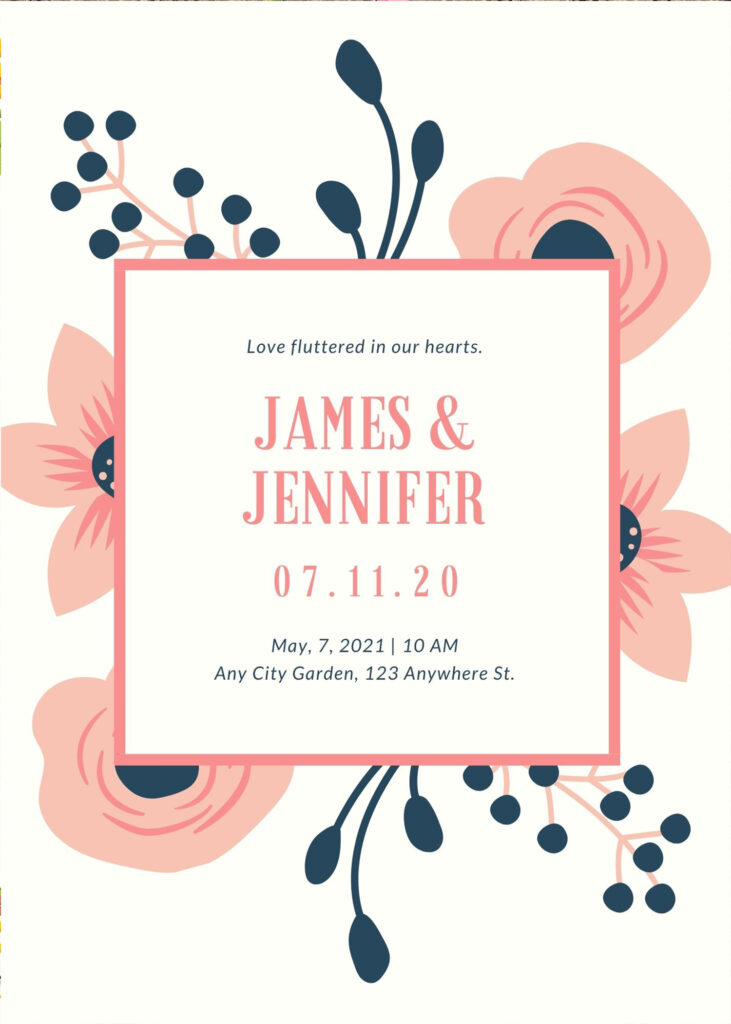 wedding invitation details card